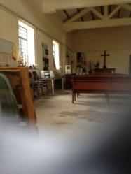 「港九大隊」成立地點——西貢黃毛應村天主教堂,這裏真有不少可歌又可嘆的歷史。(作者攝)(2)